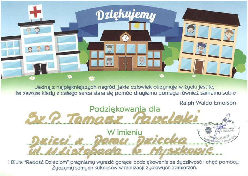 Wspieramy Dom Dziecka w Myszkowie